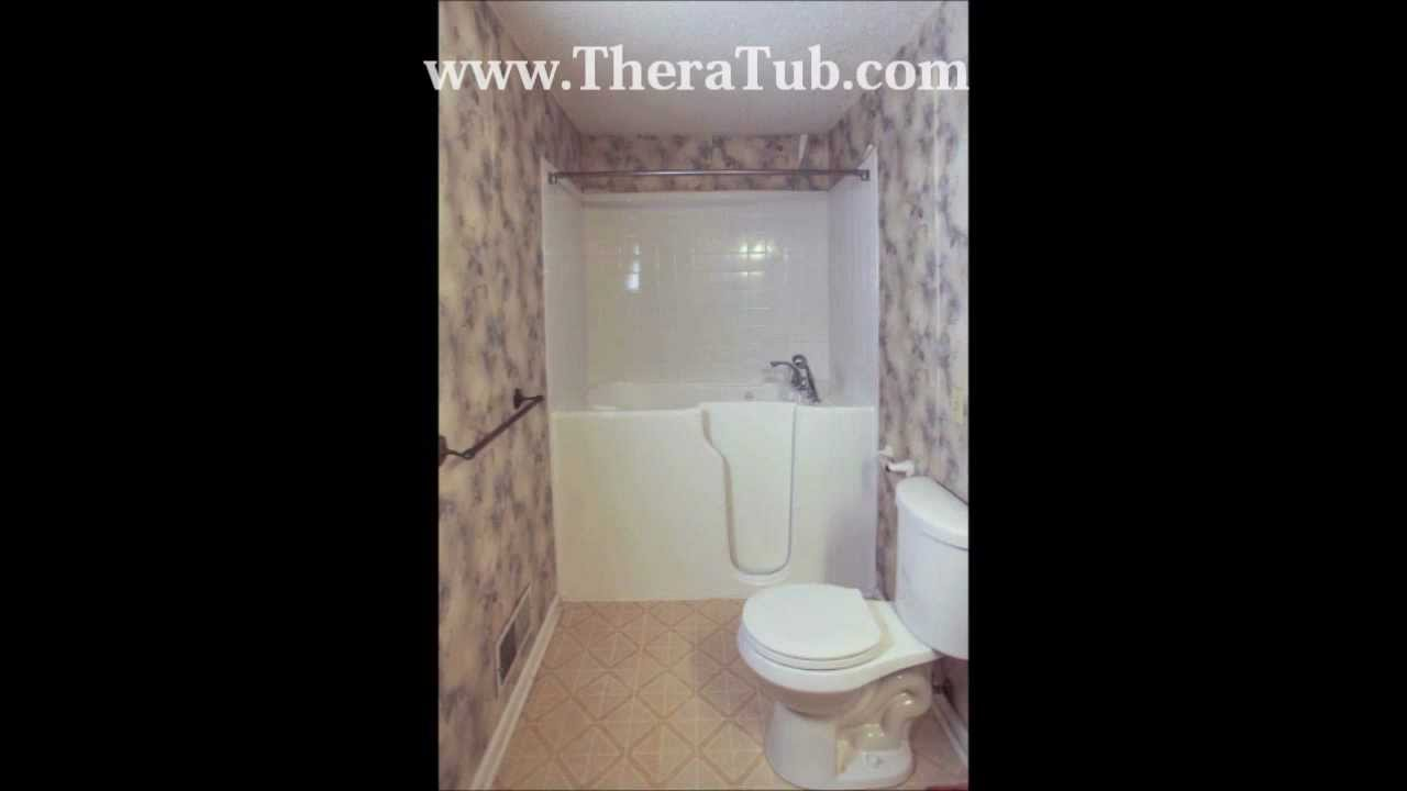TheraTub Walk In Tub Time Lapsed Installation YouTube