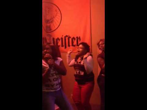Girls night out karaoke !!! They drunk as hell