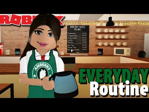 EVERYDAY ROUTINE AT AMBERRY COFFEE SHOP ☕ | Bloxburg | Roblox Roleplay
