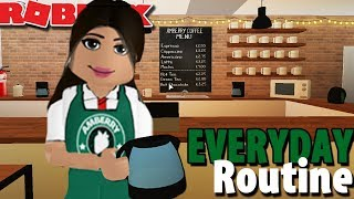 EVERYDAY ROUTINE BEI AMBERRY COFFEE SHOP ☕ | Bloxburg | Roblox Rollenspiel