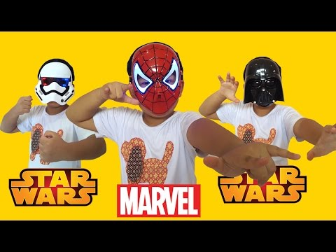 Marvel Mask and Star Wars Mask - Spiderman, Stormtrooper and Darth Vader Mask