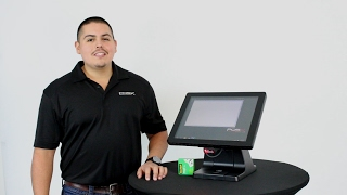 Demonstration of pos-x's evo tp4 all-in-one terminal with a code cr1000 2d barcode scanner attached. visit www.pos-x.com/tp4 for more info!