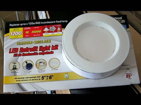 How to install the Costco LED Retrofit Light Kit - YouTube