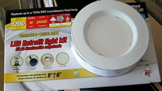 how to install the costco led retrofit light kit. Black Bedroom Furniture Sets. Home Design Ideas
