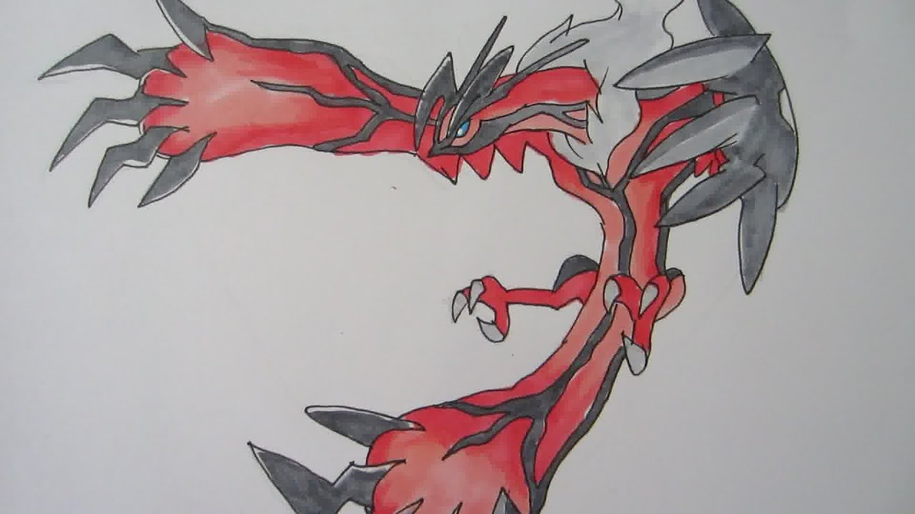 [Tutorial] How to draw Yveltal from Pokemon Y イベルタル - YouTube