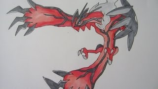 [Tutorial] How to draw Yveltal from Pokemon Y イベルタル