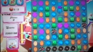 Candy Crush Saga level 185 2.5 MILLION score