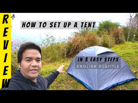How To Setup A Camping Tent | 3 Person Tent Step-By-Step Process | For Hiking ,Camping & Backpacking