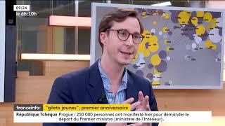 François Boulo sur France Info, le 17/11/2019 au lendemain des 1 an du mouvement social