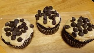 Hot Fudge Cup Cakes With Peanut Butter Cream Cheese Icing-in The Kitchen With Sandy Episode 59