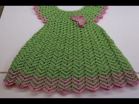Vestido Tejido A Crochet Para Niña De 3 Años Paso A Paso