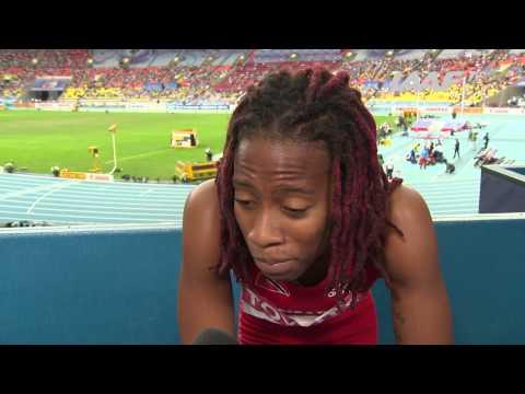 Moscow 2013 - Michelle-Lee AHYE TRI - 100m Women - Semi-Final - Heat 1