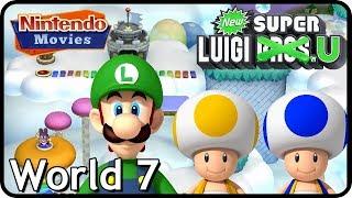 New Super Luigi U - World 7 - Meringue Clouds (3 Players, 100% Walkthrough)