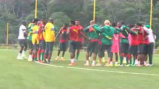 Séance d'entraînement des Lions indomptables du 13 Octobre 2014