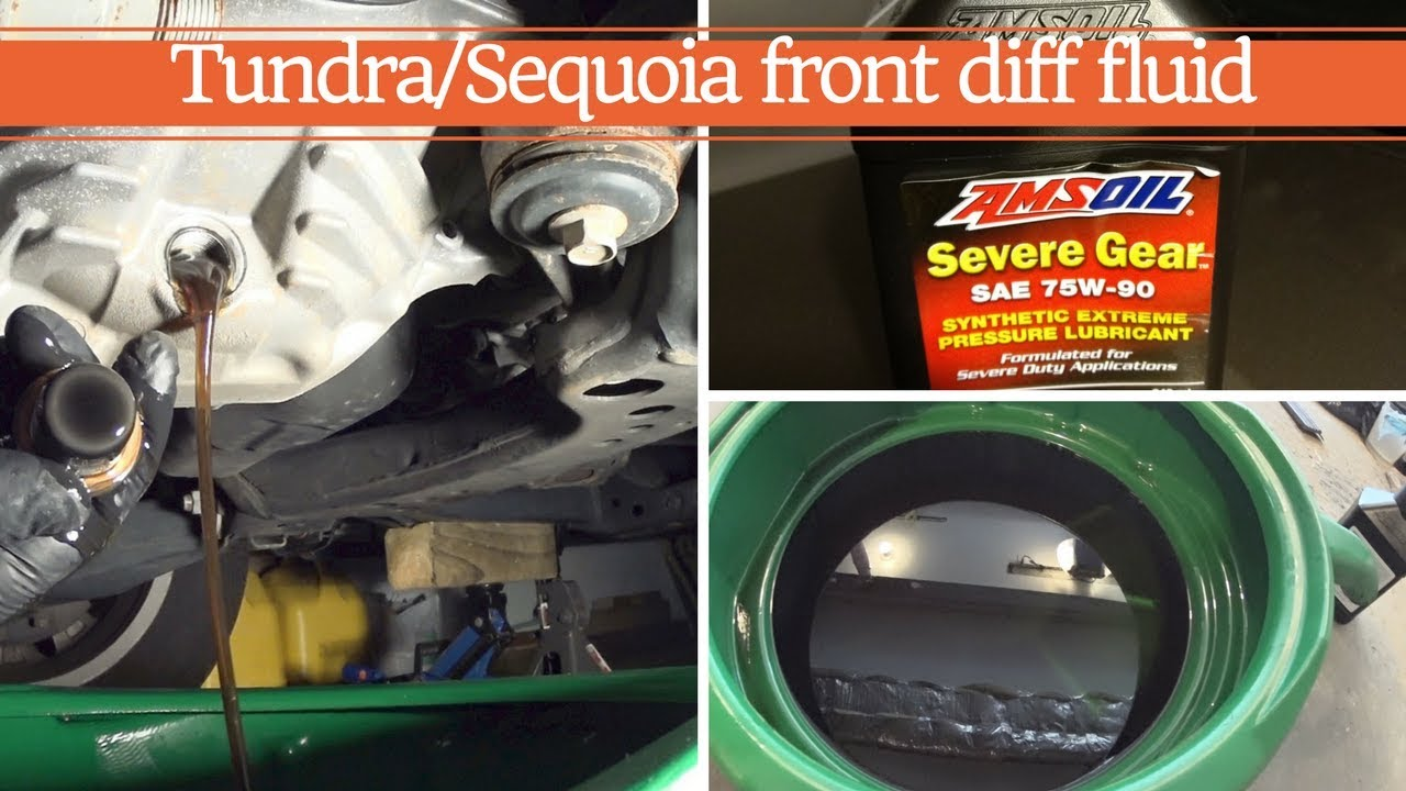 Toyota/Lexus front Differential fluid replacement, Amsoil gear oil is the  best
