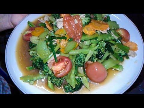 Stir fried mixed vegetables - Asian food  ( laos food recipes )