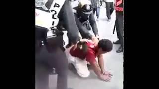 Thai Police Using Sasumata (Man-catcher) in Maha Sarakham, Thailand