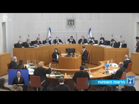 """שידור חי מבג""""ץ: בית המשפט דן בעתירות נגד ההסכם הקואליציוני"""