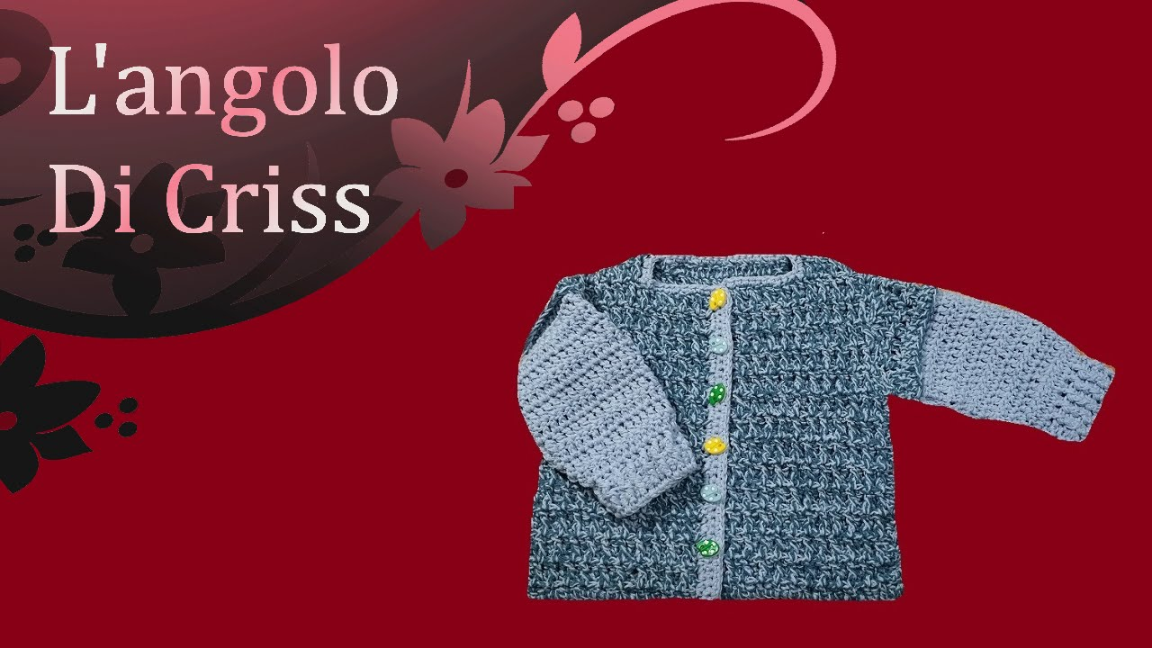 Giacchina Neonato Uncinetto Crochet Baby Cardigan Chaqueta Para
