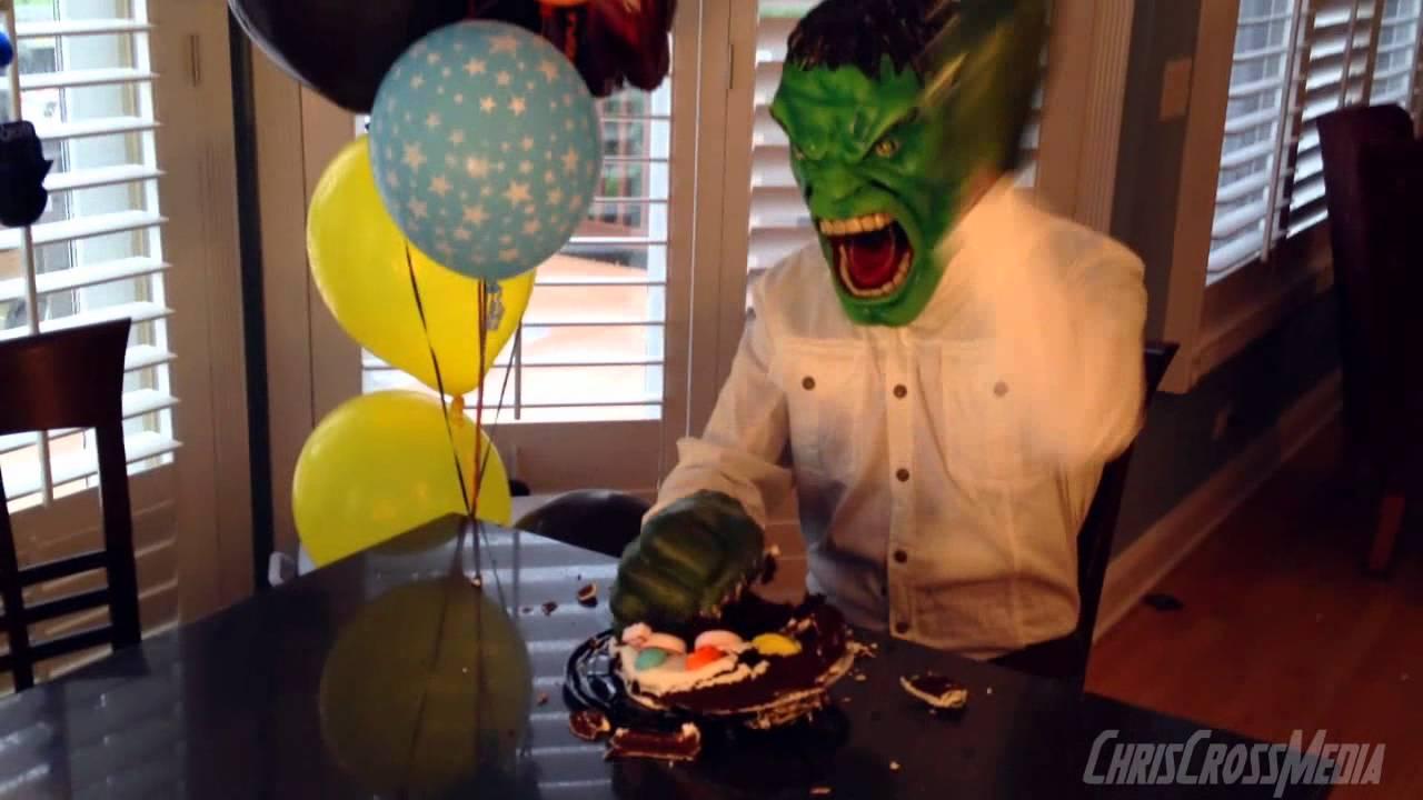 Hulk Smash Birthday Cake Youtube