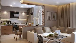 Modern DESIGN The interior of the apartment with elements of decor in a modern style