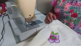 Como fazer aplique de flores de chita em artesanatos