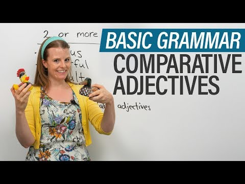 English Grammar: Comparative Adjectives