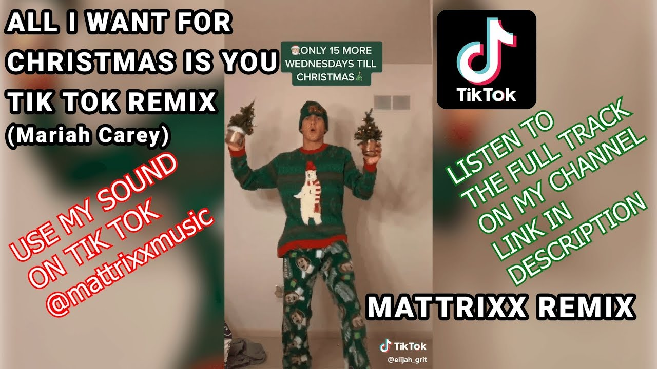All I Want For Christmas Is You Tik Tok Remix Mattrixx Remix Trap Youtube