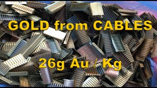 GOLD from cables (FFC) 26g Au / kg