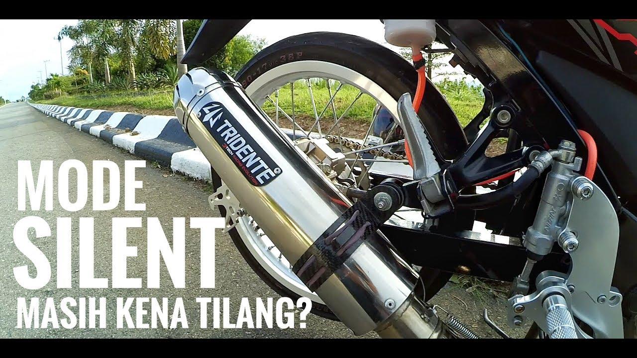 Test Desibel Knalpot Tridente 3 Mode Suara Silent Masih Kena Prospeed Mf Series Honda Sonic150r Tilang
