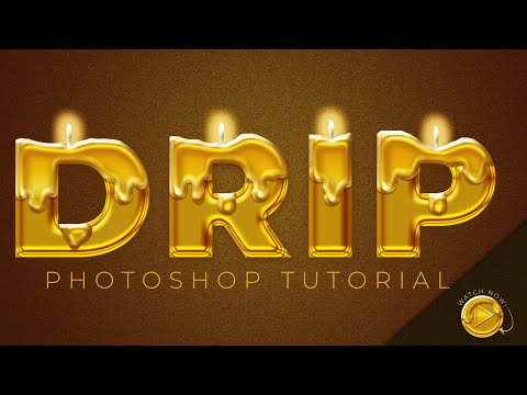 Photoshop Tutorial: How to Make a Dripping Text Effect thumbnail