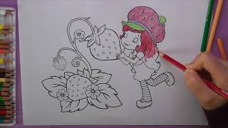 Çilek Kız Boyama, Çilek Kız Nasıl Boyanır | Coloring Strawberry Girl
