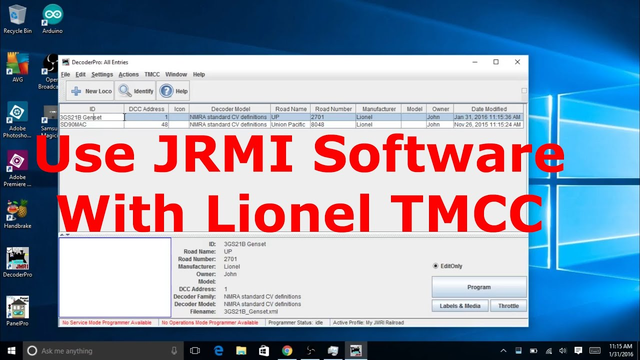How to Use JMRI Software With Lionel TMCC