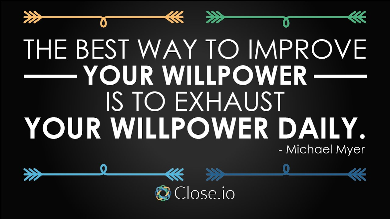 what is will power and how to improve it