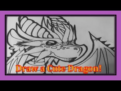 How to Draw a Cute Dragon//🐉🐲Easy, Step by Step//Natural Speed