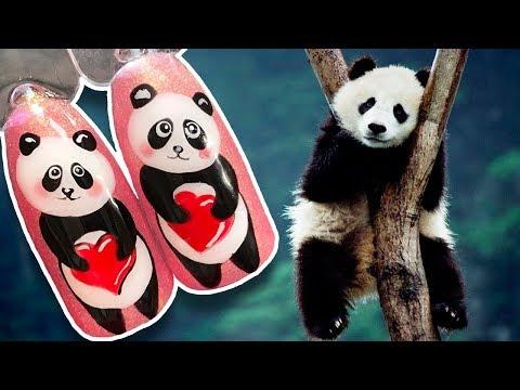 Маникюр фото панда