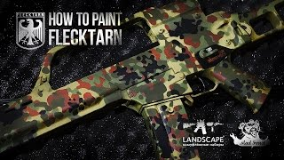 Покраска оружия в камуфляж Флектарн / How to paint Flecktarn