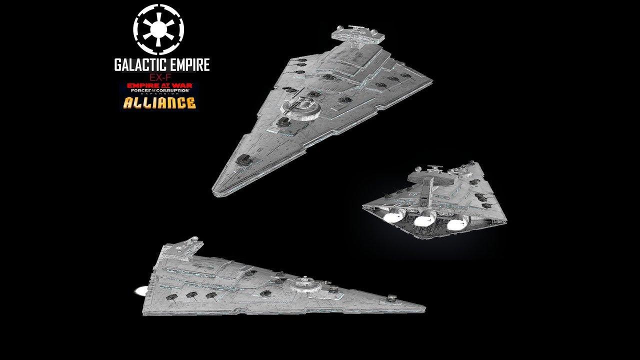 Star Wars Empire at War – FOC Alliance – EX-F at battle