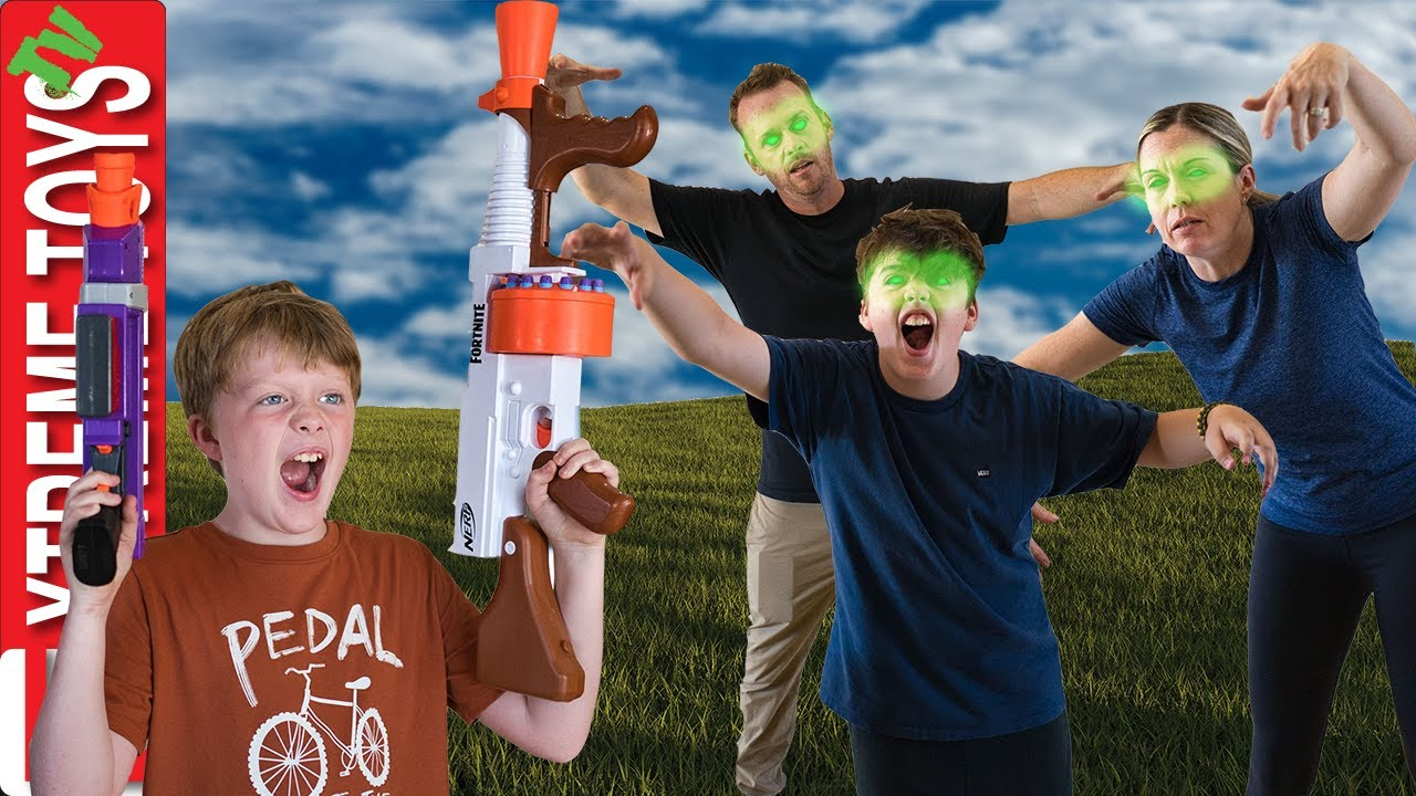 Escape the Infected! Fortnite Blasters Vs  Zombies!