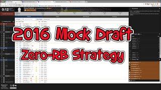 2016 Fantasy Football Mock Draft: How to Use Zero-RB