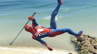 GTA 5 SPIDERMAN Ragdolls Compilation #5 (Euphoria physics | Funny Moments)