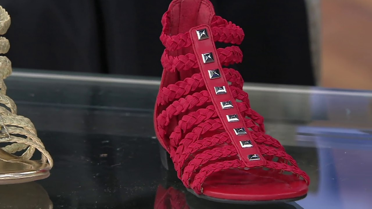 85586740a453 Marc Fisher Braid Detailed Gladiator Sandals - Pepita on QVC - YouTube