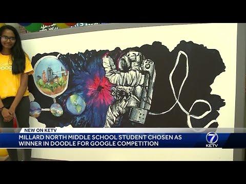 Millard North Middle School 8th grader wins 11th Doodle for Google