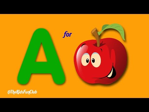 A For Apple B For Ball C For Cat D For Dog – Learn ABC Phonics & Alphabets