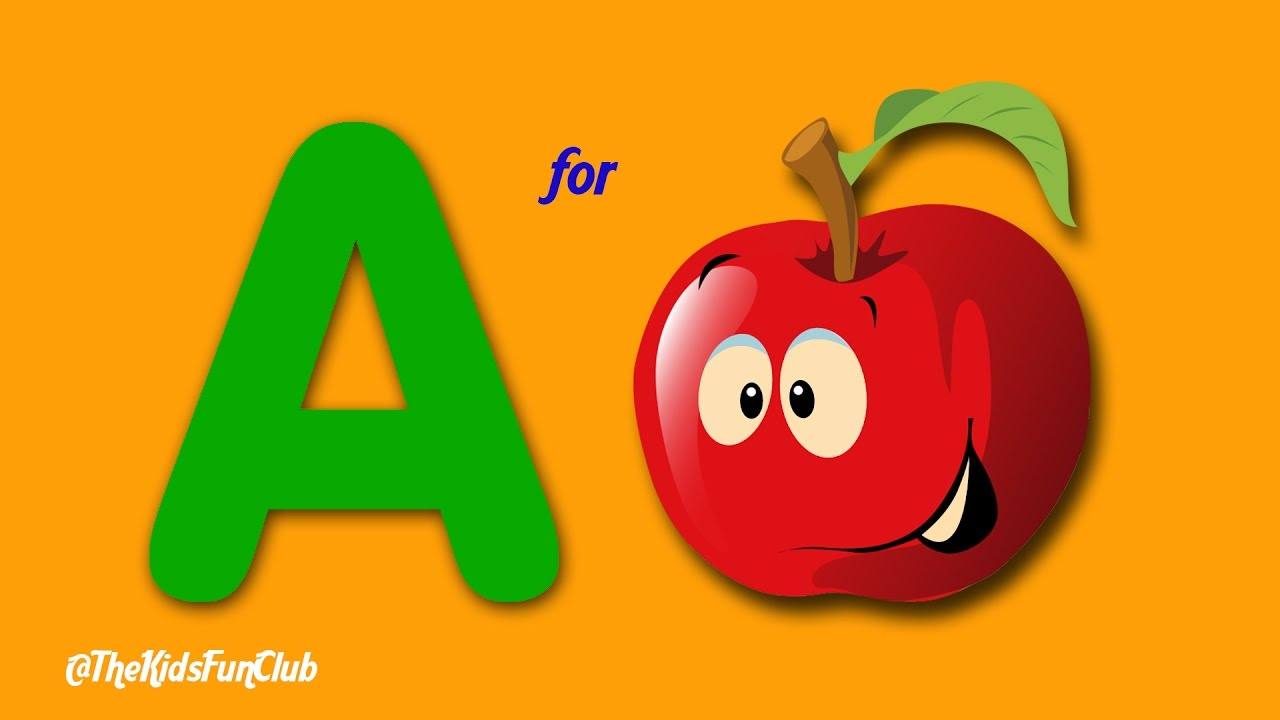 a for apple b for ball c for cat d for dog learn abc phonics