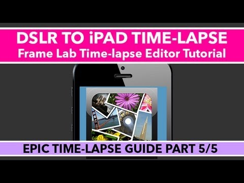 how to create timelapse on premiere