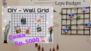 Diy Wall Grid || Diy Aesthetic Room Decor || Aulia Rahma