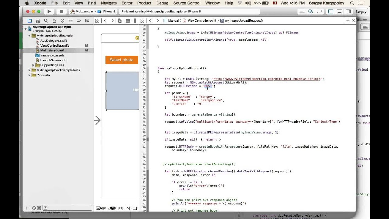 Image upload example with Swift and PHP - Swift Developer Blog