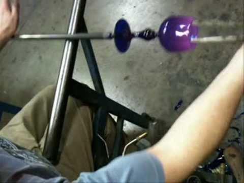 Dan S. making cobalt goblet