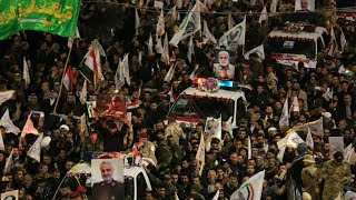 Thousands gather in Baghdad to mourn Iranian general killed in US airstrike